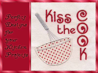 Kitchen Items Machine Embroidery Design Sets Page 1