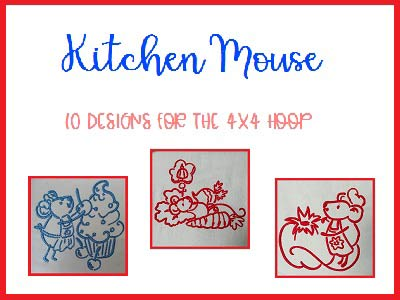 Kitchen Mouse Embroidery Machine Design