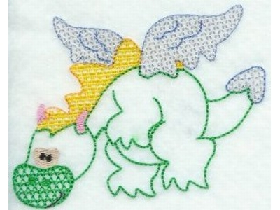 Lacey Dragons Embroidery Machine Design
