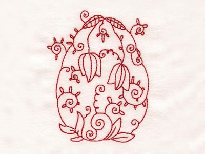 Line Art Deco Easter Eggs Embroidery Machine Design