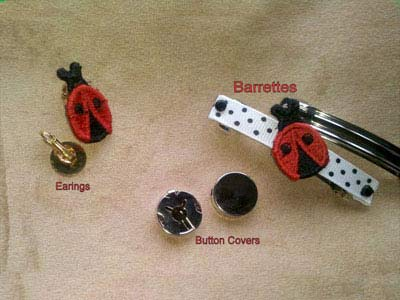 Ladybug Beads and Things Embroidery Machine Design