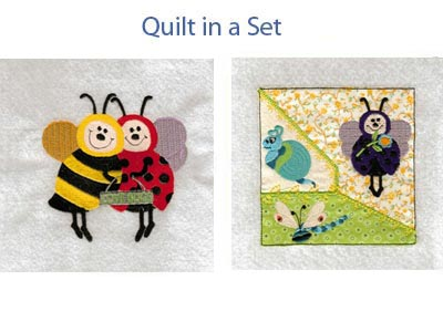 Ladybug and Bees Embroidery Machine Design