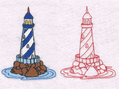 Machine Embroidery Designs - Lighthouses Set on lighthouse home designs, lighthouse cake designs, lighthouse quilts, lighthouse embroidery clip art, lighthouse embroidery kits, lighthouse painting designs, lighthouse art designs, lighthouse tumblr, lighthouse stencil designs, lighthouse clothing for women,