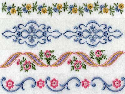 Borders Ornaments Machine Embroidery Design Sets Page 1