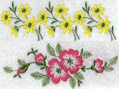 Borders Ornaments Filled Design Machine Embroidery Design Sets Page 1