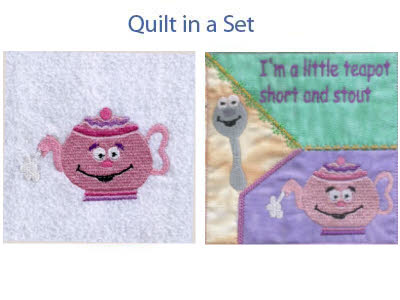 Little Teapot Embroidery Machine Design