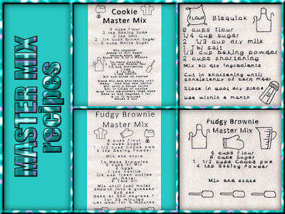 Master Mix Recipes Embroidery Machine Design