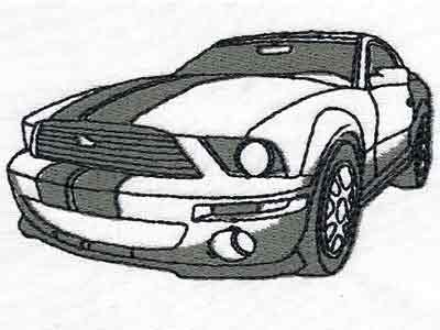 Muscle Cars Embroidery Machine Design