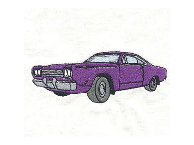 Muscle Cars 2 Embroidery Machine Design