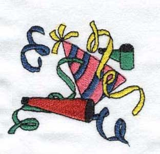New Years Embroidery Machine Design