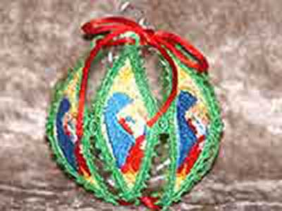 Machine Embroidery Designs Lace Holiday Ornament Covers Set