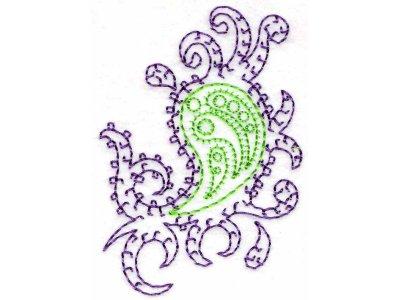 Machine Embroidery Designs Paisley Set
