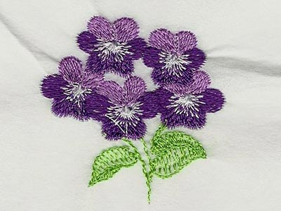 Machine Embroidery Designs - Pansies and Violets 2 Set