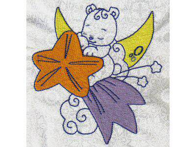 Partial Filled Bears Embroidery Machine Design