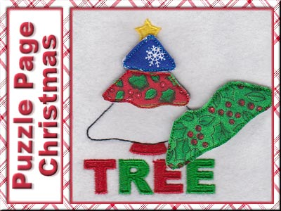 Puzzle Page Christmas Embroidery Machine Design