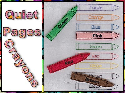 Quiet Pages Crayons