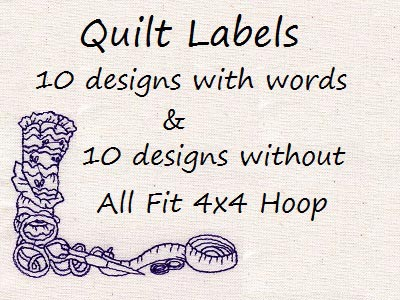 Quilt Labels Embroidery Machine Design