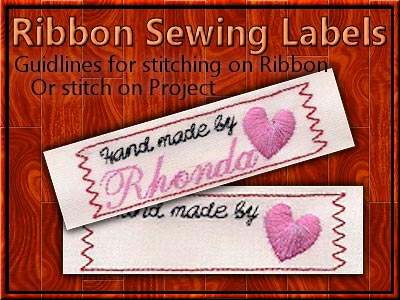Ribbon Sewing Labels Embroidery Machine Design