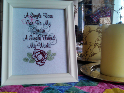 Rose Garden Embroidery Machine Design