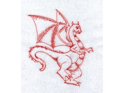 RW Dragons Embroidery Machine Design