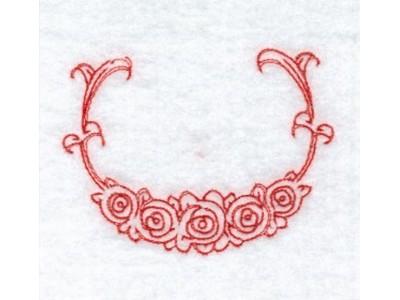 Machine Embroidery Designs - RW Floral Monogram Frames Set