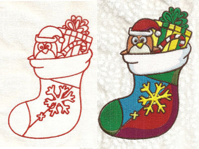 Santa is Coming Embroidery Machine Design