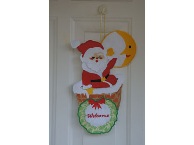 Santa Wall Hanging Embroidery Machine Design