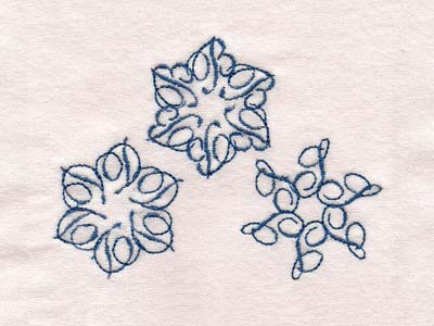 Snowflake Alphabet Embroidery Machine Design