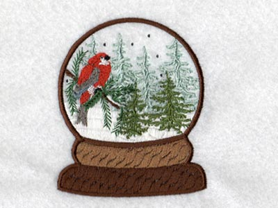 Winter Snow Globes Embroidery Machine Design
