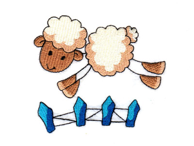 Sticky Farm Friends Embroidery Machine Design