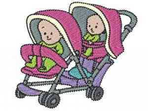 Strollers Embroidery Machine Design