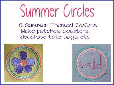 Summer Circles Embroidery Machine Design