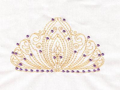 Machine Embroidery Designs Tiaras Set