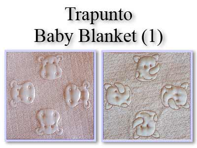 Trapunto Baby Blanket