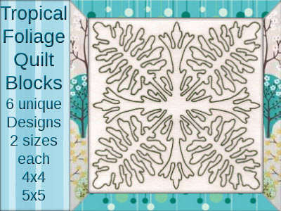 Tropical Foliage Quilt Blocks