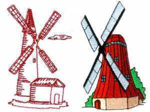 Whimsical Windmills Embroidery Machine Design