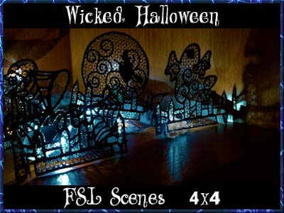 Wicked Halloween Scenes Embroidery Machine Design