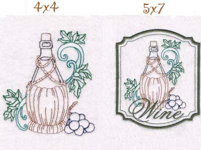 Wine Country Embroidery Machine Design