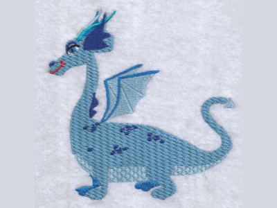 Winged Dragons Embroidery Machine Design