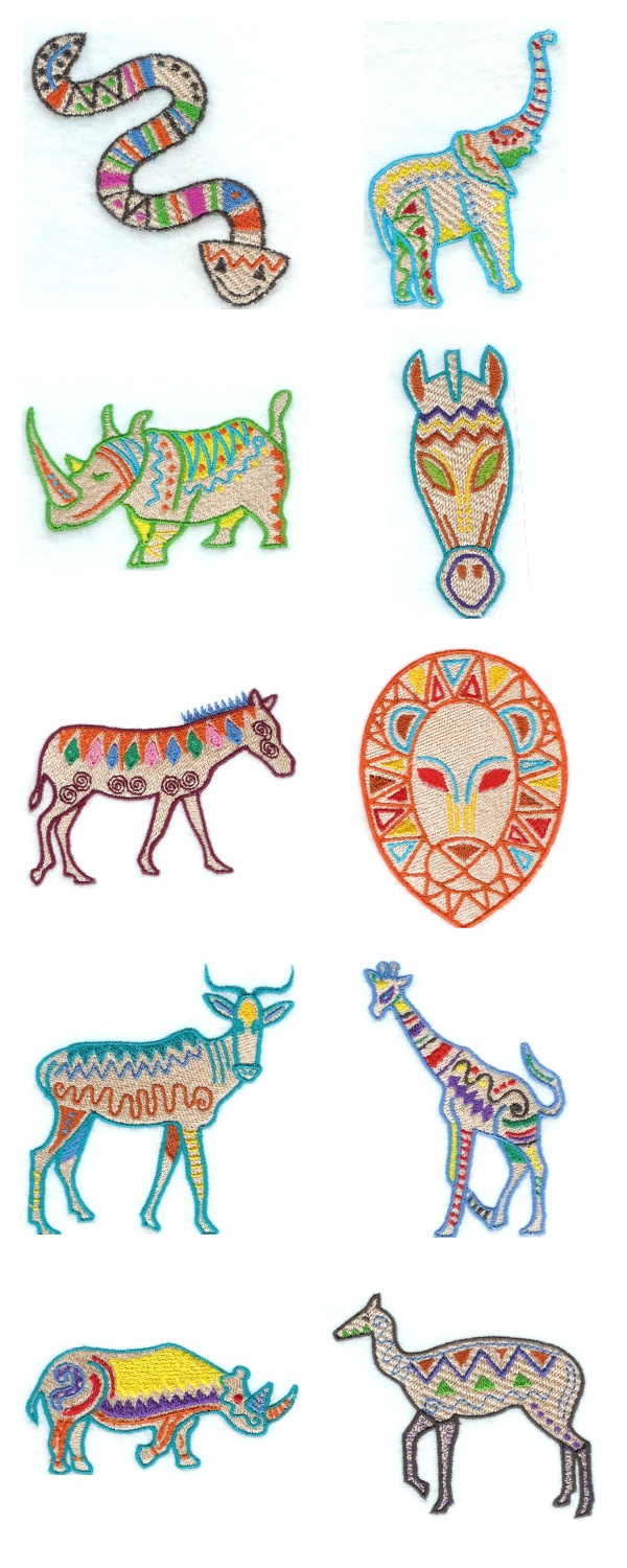 African Deco Embroidery Machine Design Details