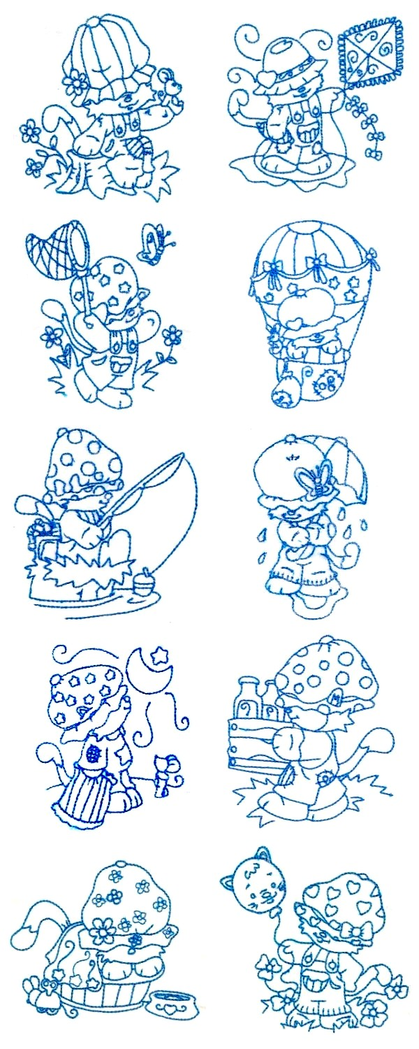 BW Kitties Embroidery Machine Design Details