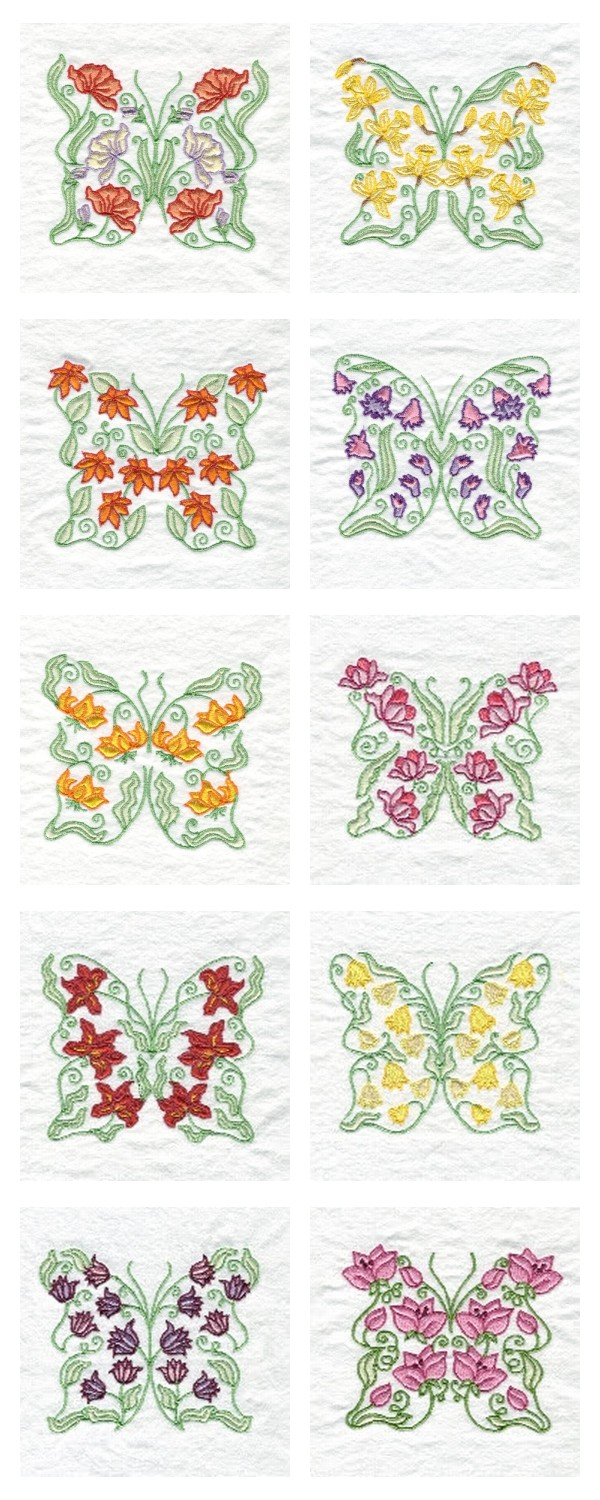 Butterfly Fantasy Embroidery Machine Design Details