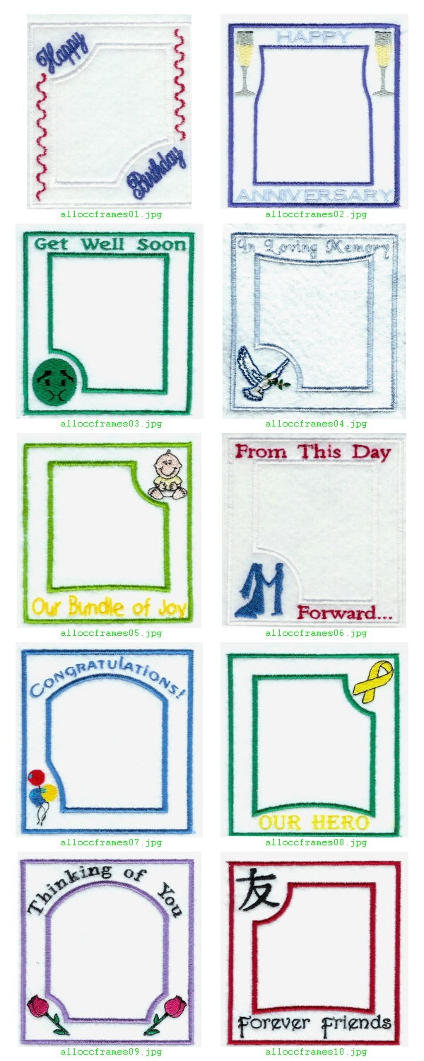 All Occasion Frames Embroidery Machine Design Details