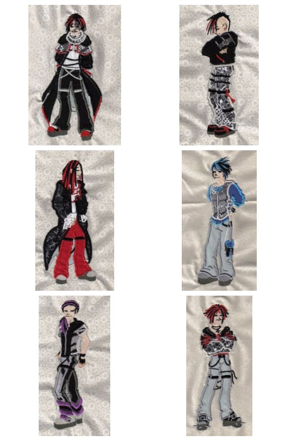 Applique Gothic Boys Embroidery Machine Design Details