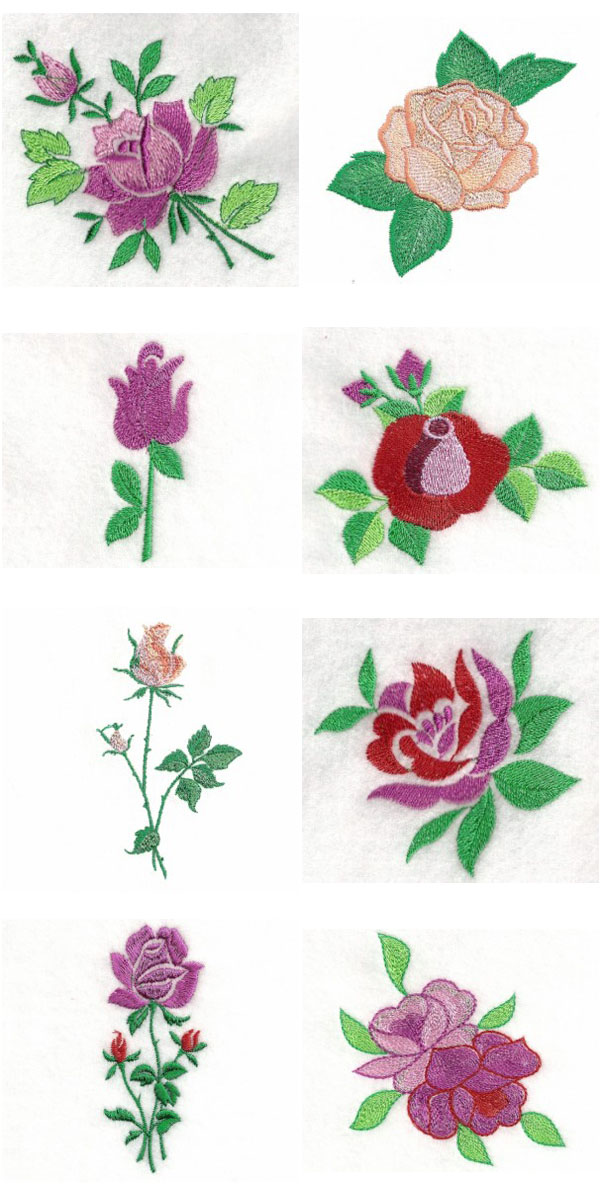A Rose is a Rose Embroidery Machine Design Details