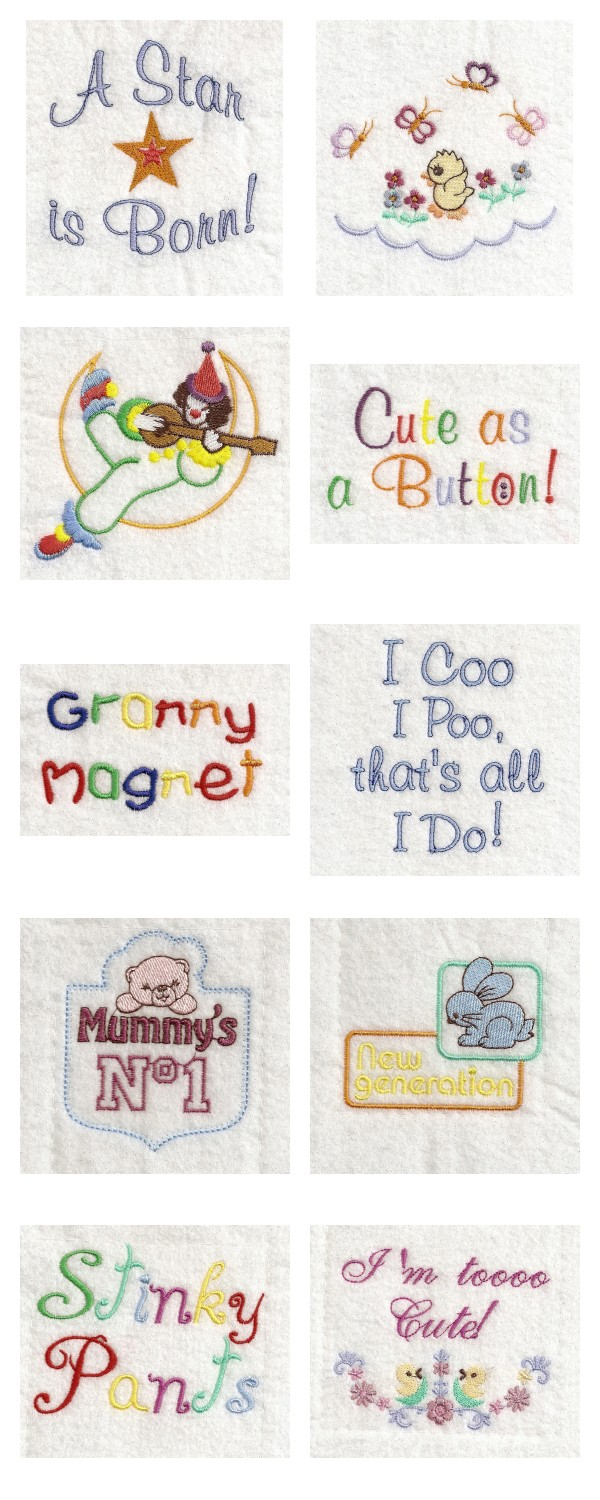 Baby Bibs Things Embroidery Machine Design Details