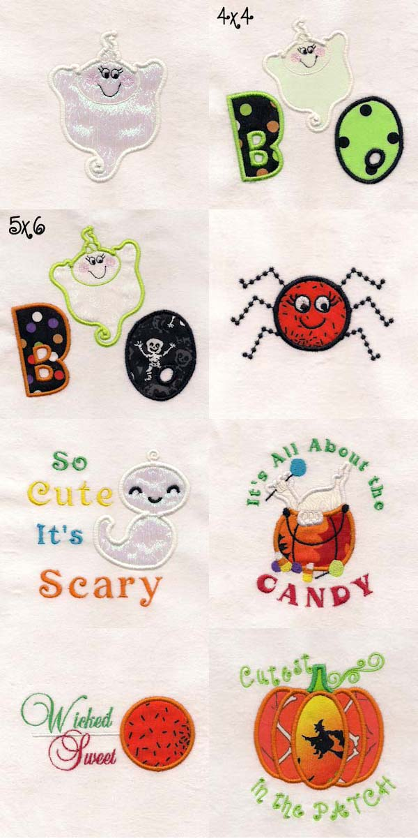 Baby Boo Embroidery Machine Design Details