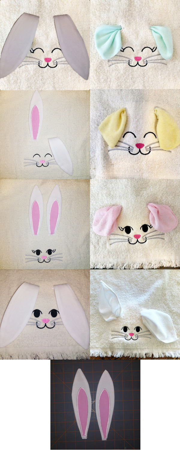 Bunny Ears Embroidery Machine Design Details