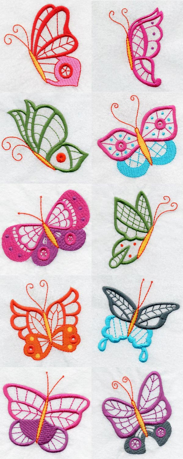 Butterfly Embroidery Machine Design Details