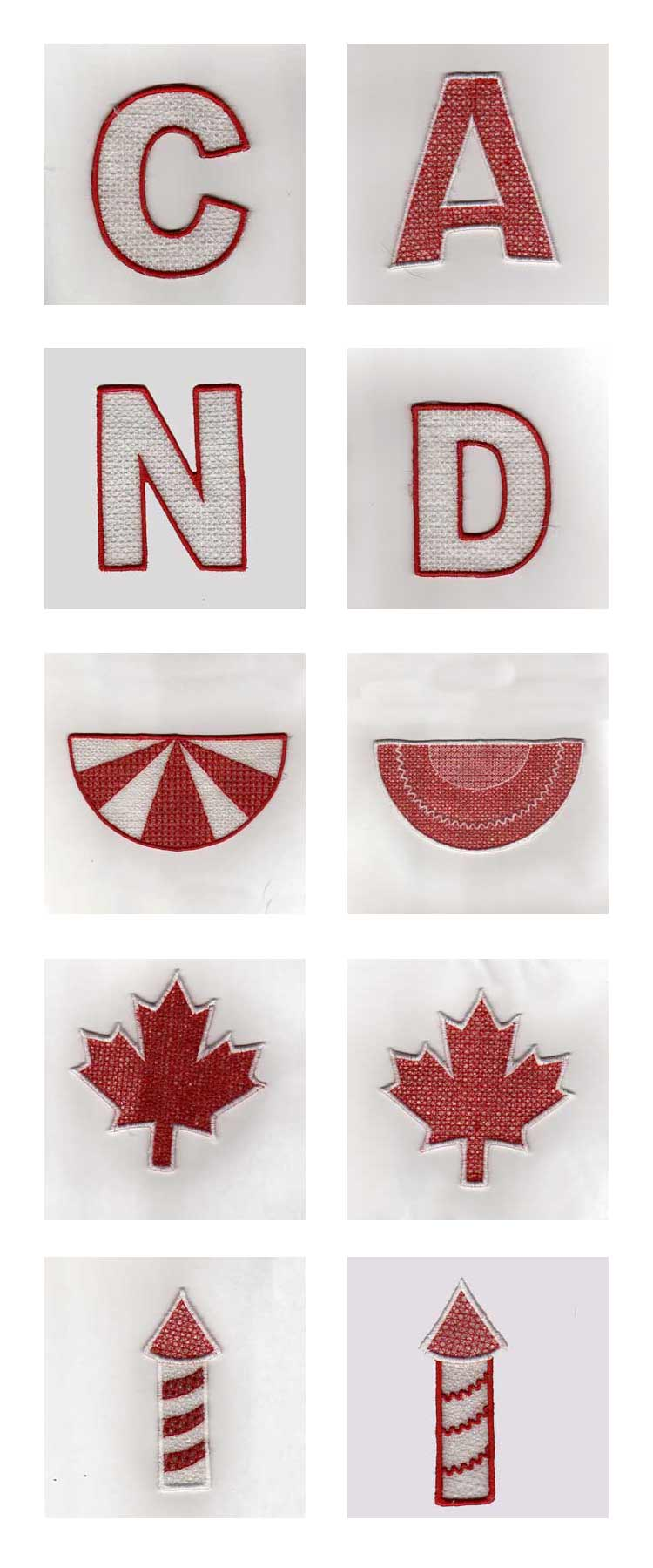 Canada Banner Embroidery Machine Design Details